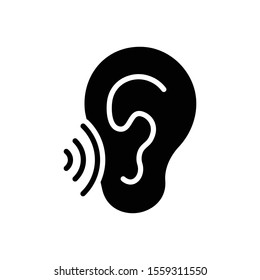 Vector black icon for whisper