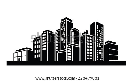 vector black illustration building icon  stock vector royalty   shutterstock