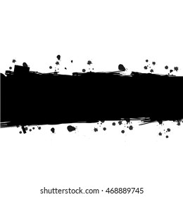 Vector of Black ink splattered for background with space for text