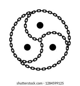 Vector black logo / symbol BDSM from chain
