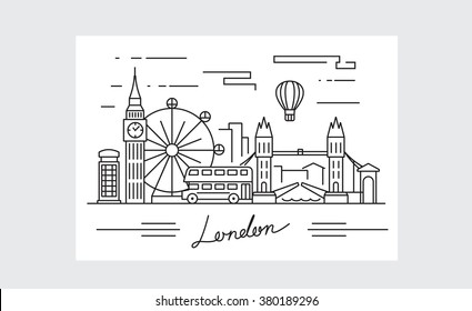 vector black london icon on white background