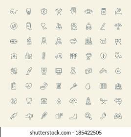 vector black Medicine & Heath Care icons