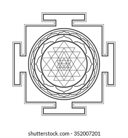 vector black outline hinduism sri 260nw 352007201 royalty free sri yantra stock images, photos & vectors shutterstock