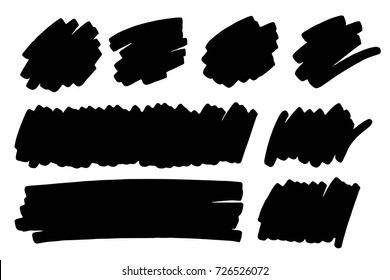 Vector black paint, ink brush stroke, brush, line or texture, mark, marker or highlighter design element. Background for text.