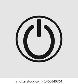 vector black shut down icon