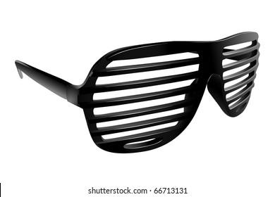 Vector black shutter shades on white background