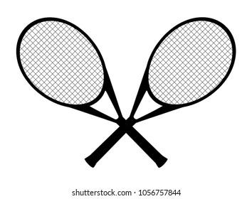 crossed rackets images stock photos vectors shutterstock rh shutterstock com Cartoon Tennis Raquet Tennis Racket Clip Art