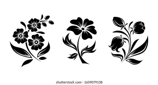Flowers Silhouette Images Stock Photos Vectors Shutterstock