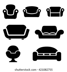 Vector Black Furniture Icon Set On Stock Vector Royalty Free