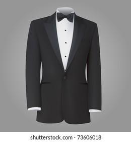 vector black tuxedo dinner jacket