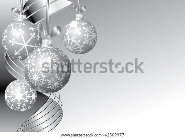vector black and white blank Christmas card