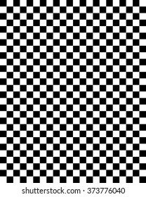Vector Black and White Checkerboard Pattern