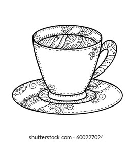 teacup coloring page | fabulous food | Penny Farthing Graphics ... | 280x260