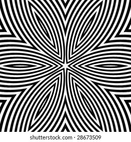 vector - black and white digital flower