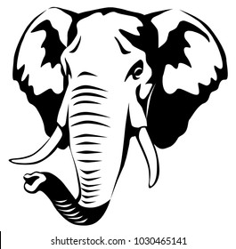 Elephant Head Images Stock Photos Vectors Shutterstock Elephant face png collections download alot of images for elephant face download free with high elephant face free png stock. https www shutterstock com image vector vector black white graphic illustration head 1030465141