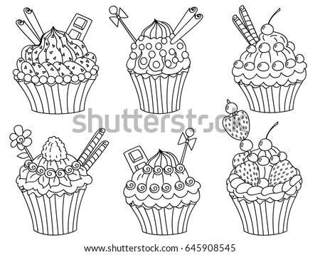 Vector Black White Hand Drawn Doodle Stock Vector Royalty Free