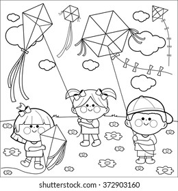 coloring pages children stock images