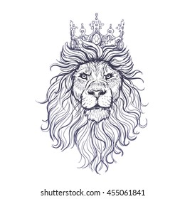 Lion Sketch Images Stock Photos Vectors Shutterstock On this page african lion tattoo designs you can see the amazing and beautiful paintings tattoo, made by talented artist. https www shutterstock com image vector vector black white lion sketch 455061841