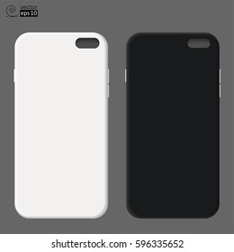 vector black and white no name phone cases. it can be used as a mock-up for placing logos or images etc