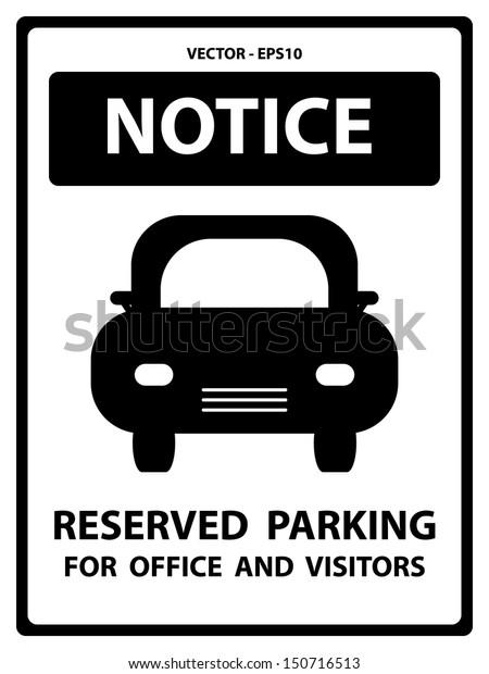 Reserved parking safety sign