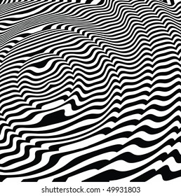 vector - black and white optical art
