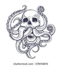 Octopus Tattoo Images Stock Photos Vectors Shutterstock