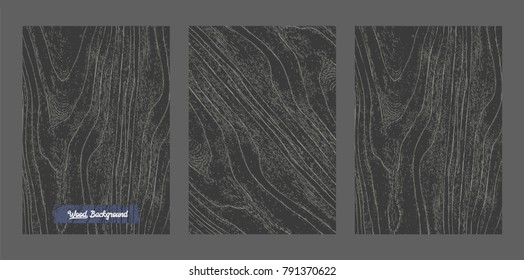 Vector Black wood background and texture.