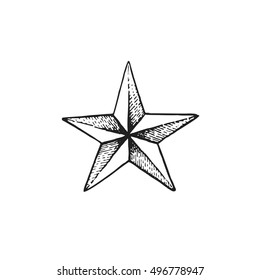 Nautical Star Tattoo Images, Stock Photos & Vectors | Shutterstock