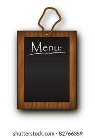 vector blackboard frame wood Menu black
