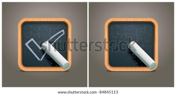Vector blackboard square icon