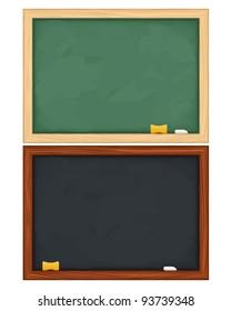 Vector blackboards on white background