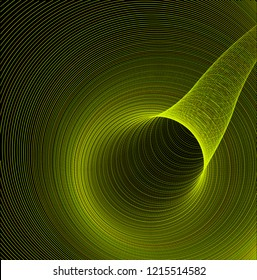 Vector Blackhole, Wormhole Concept Background - Space Gravitational Funnel Trap, Gyperbolic Geometry, Whirlwind, Tunnel etc