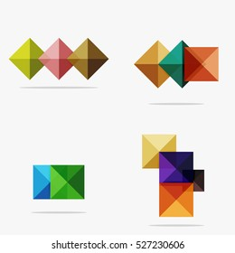 Vector blank abstract squares background, infographic template with place for your content