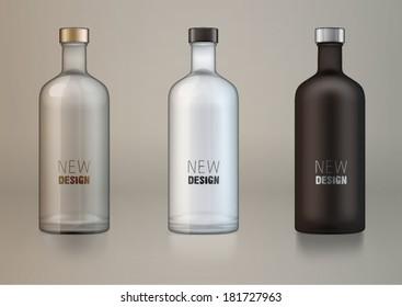 vector blank alcohol bottles for new design.