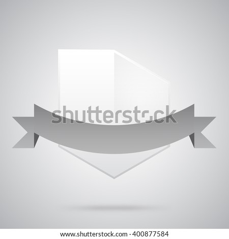 Vector Blank Badge Template Shield Illustration