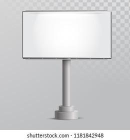 Vector Blank Billboard. Isolated Vector Bilboard.
