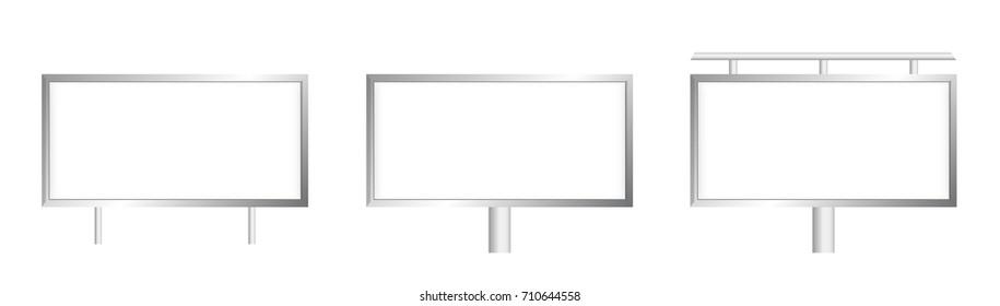 Vector blank billboard in three variants