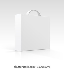 Vector Blank Box with Handle