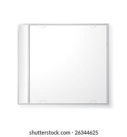 Vector blank cd box
