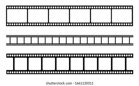 Vector blank cinema film strip. Vector illustration
