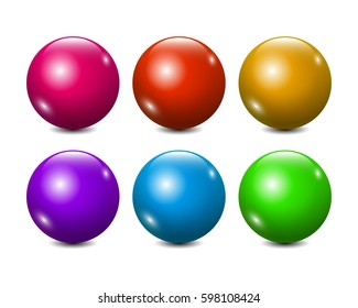 Vector Blank Colorful Balls Set