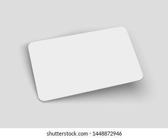 Vector blank credit card mock up with shadow.