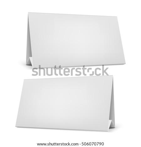 vector blank desk calendar stand stock vector royalty free