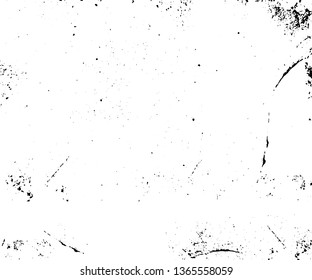 Vector blank grained and scratched film strip texture background. Old film effect