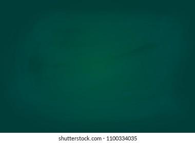 vector of blank green chalkboard