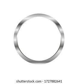 Vector Blank Metal Round Keychain with Ring for Key Isolated on White Background stock illustration
