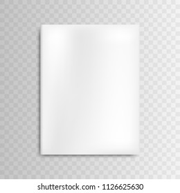 Vector blank mockup cover white magazine on gray background