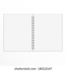 Vector blank notebook.