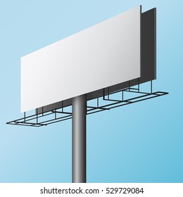 Vector Blank Outdoor Billboard with Place for Message