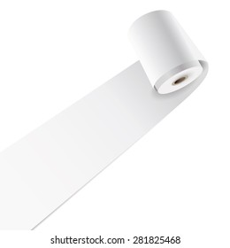 Vector blank paper roll.